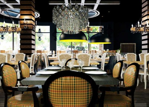 3d Restorant Modelleme ve Render İşleme