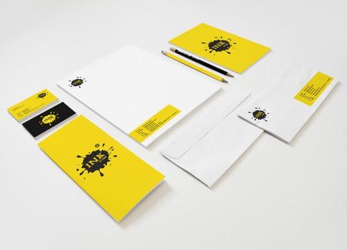 Kırtasiye firması kurumsal kimlik tasarımı - Ink Store