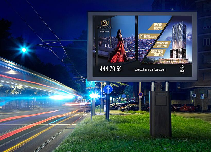 Havaalanı Billboard Tasarımı - Kuzu Grup / Kumru Ankara Projesi