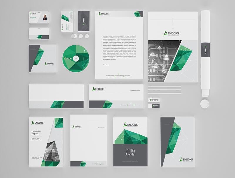 Kurumsal Kimlik ve logo Tasarımı - Endoks Enerji