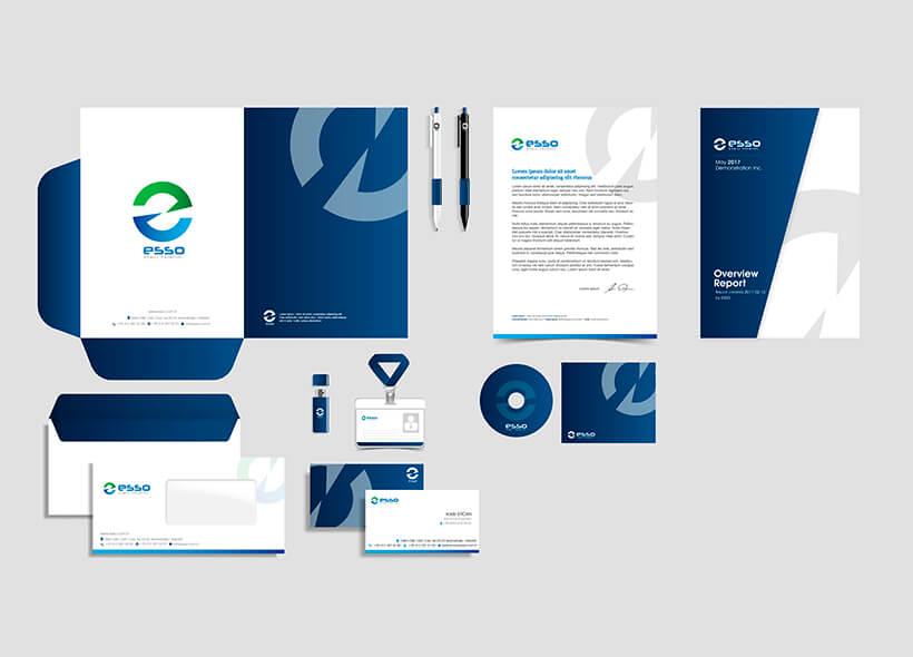 Marka oluşturma, Logo tasarımı, Kurumsal Kimlik Tasarımı - Esso